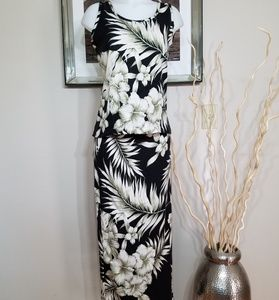 Tommy Bahama 2pc Sleeveless Top Maxi/Wrap Skirt MD